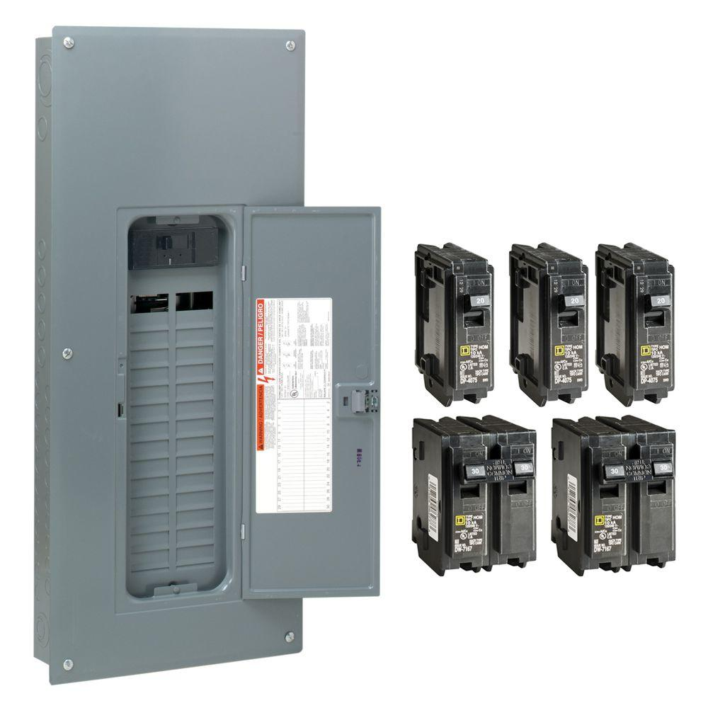 Square d homeline 150 amp 30 space 60 circuit indoor main breaker square d homeline 150 amp 30 space 60 circuit indoor main breaker plug on neutral load center with cover value pack hom3060m150pcvp the home depot greentooth