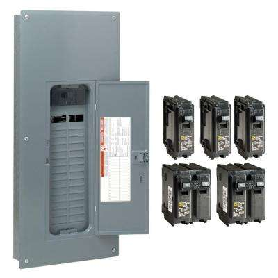 Homeline 150 Amp 30-Space 60-Circuit Indoor Main Plug-On Neutral Breaker Load Center with Cover - Value Pack