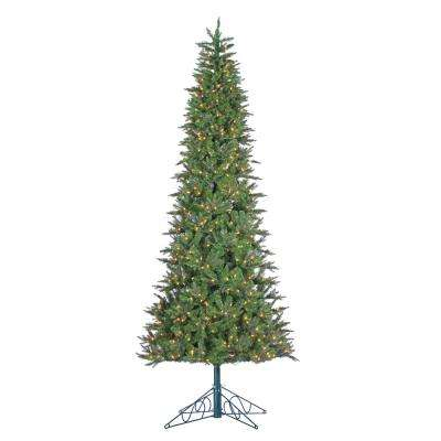 10 ft. Indoor Pre-Lit Natural Cut Salem Spruce Artificial Christmas Tree with Power Pole and 850 Clear Lights