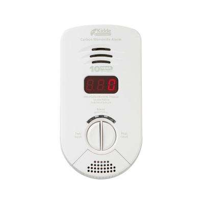 Worry Free Plug-In Carbon Monoxide Detector with 10-Year Battery Backup, Digital Display, and Voice Alarm