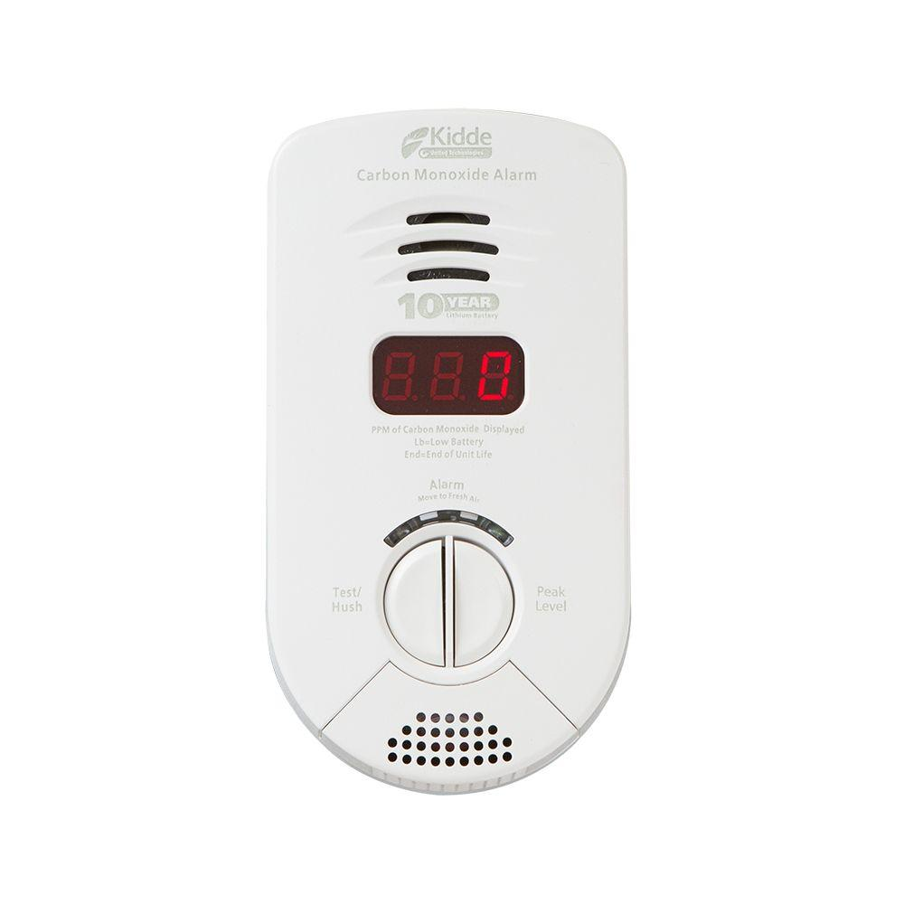 Kidde Worry Free Plug-In Carbon Monoxide Detector with 10-Year Battery Backup, Digital Display, and Voice Alarm
