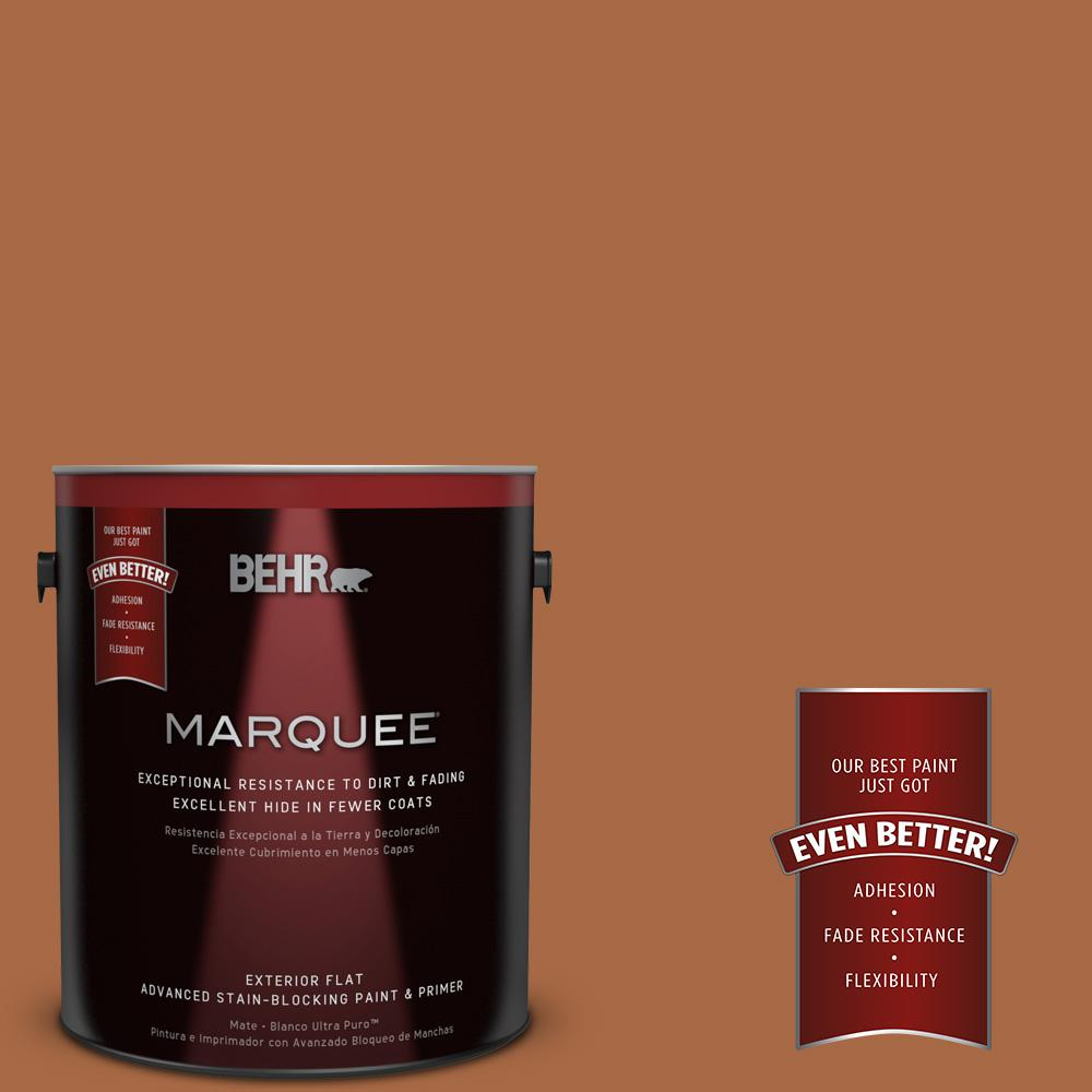 BEHR MARQUEE 1-gal. #PPU3-16 Maple Glaze Flat Exterior Paint