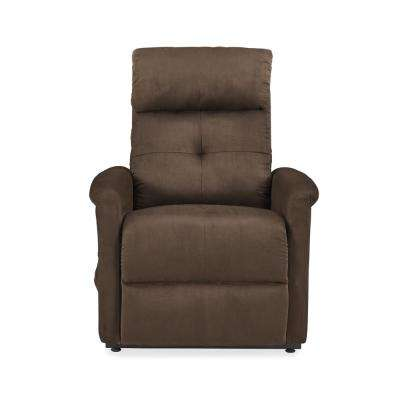 Brown Microfiber Power Recline and Lift Chair