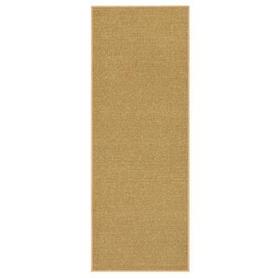 Ottohome Collection Solid Design Beige 2 ft. 7 in. x 9 ft. 10 in. Runner Rug