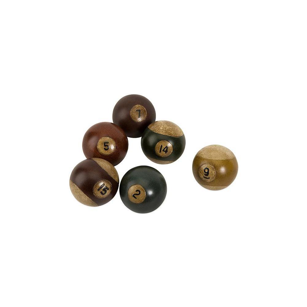 Multi Color Resin Pool Balls (Set of 6)
