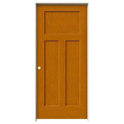 36 in. x 80 in. Craftsman Saffron Stain Right-Hand Solid Core Molded Composite MDF Single Prehung Interior Door