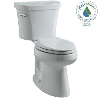 Highline 14 in. Rough-In 2-piece 1.28 GPF Single Flush Elongated Toilet in Ice Grey, Seat Not Included
