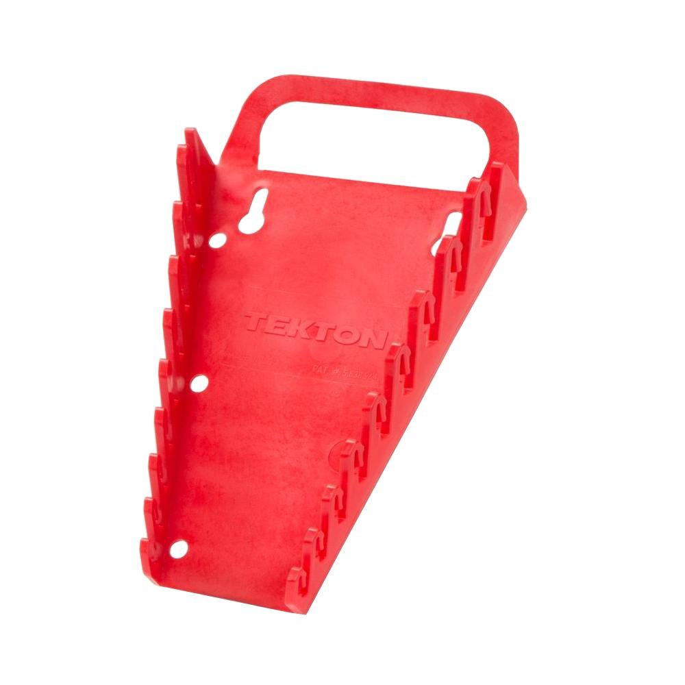 TEKTON 9-Tool Store-and-Go Wrench Keeper (Red)