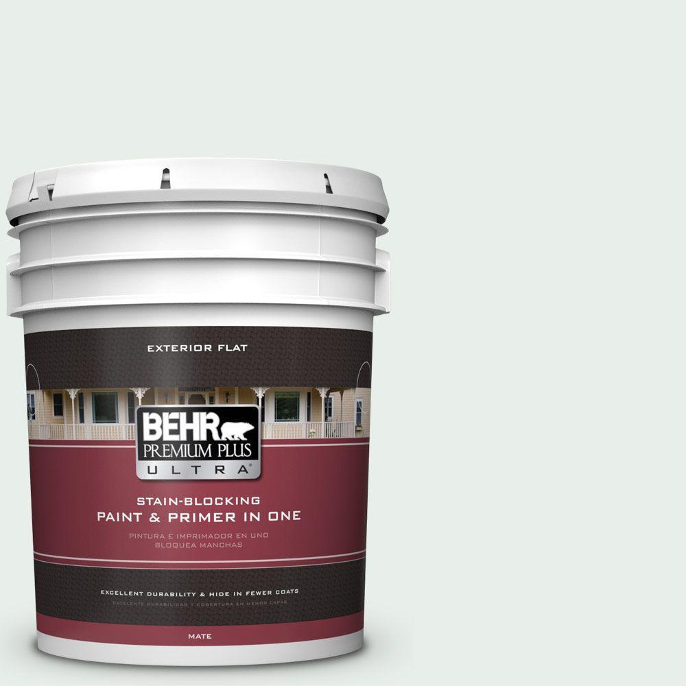 BEHR Premium Plus Ultra 5-gal. #460C-1 Aegean Mist Flat Exterior Paint