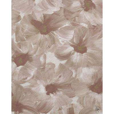 """16 in. x 20 in. """"Painted Flowers"""" Planked Wood Wall Art Print"""
