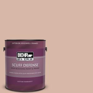 1 gal. #S190-3 Sedona Pink Extra Durable Eggshell Enamel Interior Paint and Primer in One