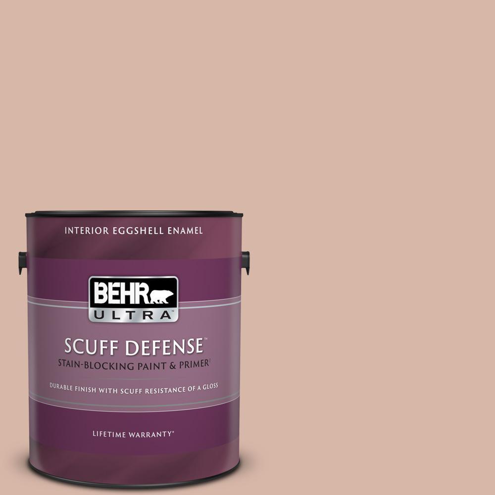 1 gal. #S190-3 Sedona Pink Extra Durable Eggshell Enamel Interior Paint & Primer