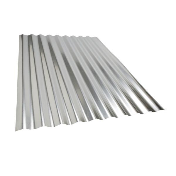 Amerimax Project Panel Corrugated 3 Ft Galvanized Steel Roof Panel 4736011001 The Home Depot
