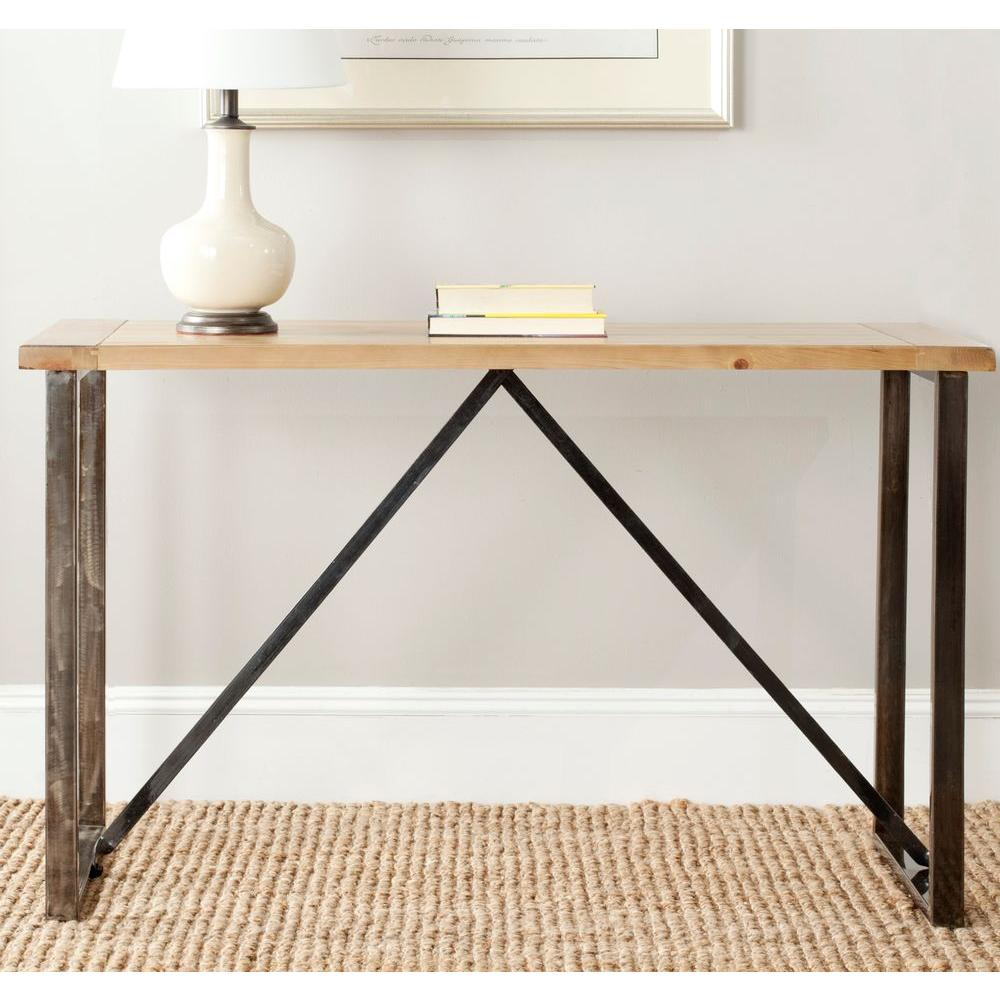 Safavieh chase natural console table amh4128a the home depot safavieh chase natural console table geotapseo Gallery