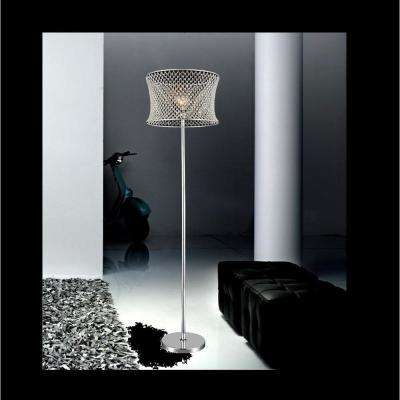 Christie 67 in. Chrome Floor Lamp