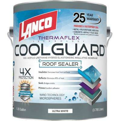 1 Gal. Coolguard 100% Acrylic Urethane Elastomeric Reflective Roof Coating with Dramatic Temperature Reduction