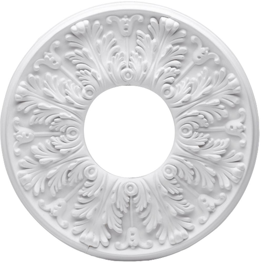 westinghouse victorian 16 in. white ceiling medallion (2-piece
