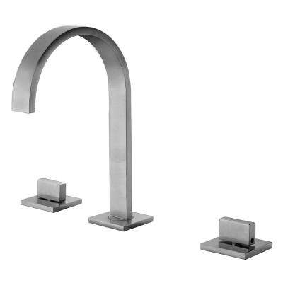 AB1336-BN 8 in. Widespread 2-Handle Luxury Bathroom Faucet in Brushed Nickel