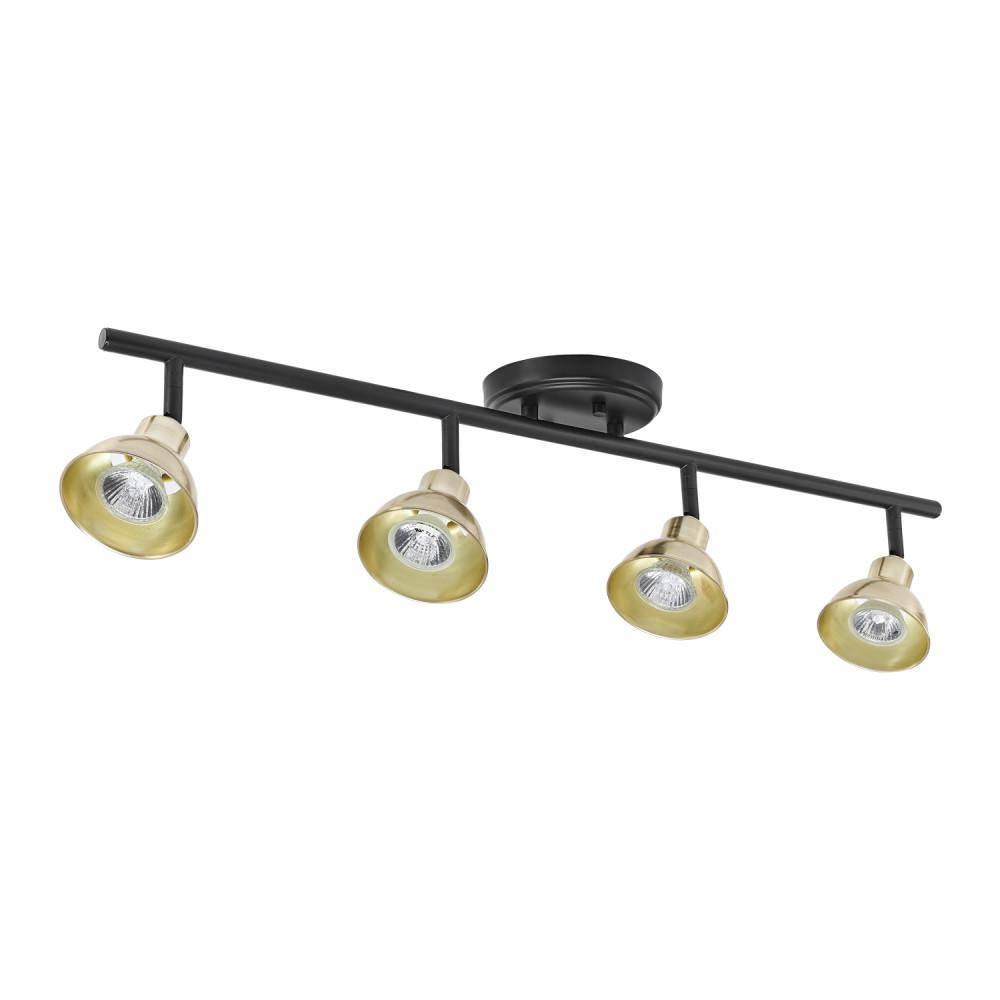 Globe Electric Versailles 30 In 4 Light Matte Black Track Lighting