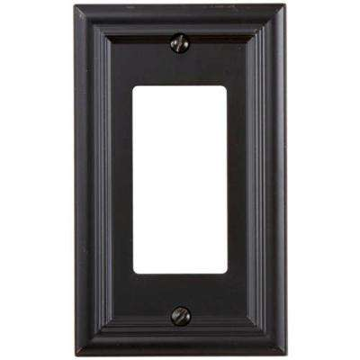 Continental 1 Decora Wall Plate - Oil Rubbed Bronze