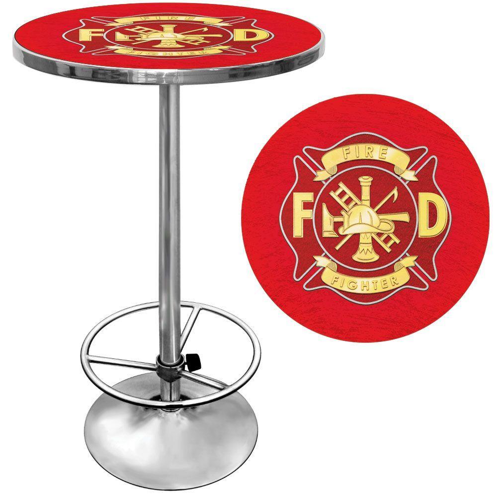 Trademark Fire Fighter Chrome Pub/Bar Table