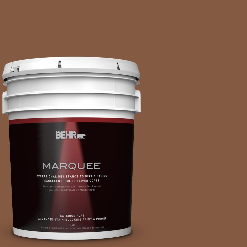 5-gal. #ICC-80 Cinnamon Spice Flat Exterior Paint