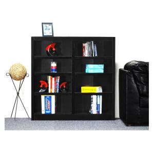 Concepts In Wood Midas Espresso Open Bookcase Mi4848 E The Home Depot