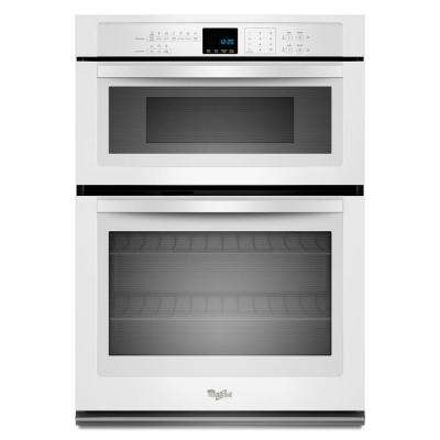 30 in. Electric Wall Oven with Built-In Microwave in White