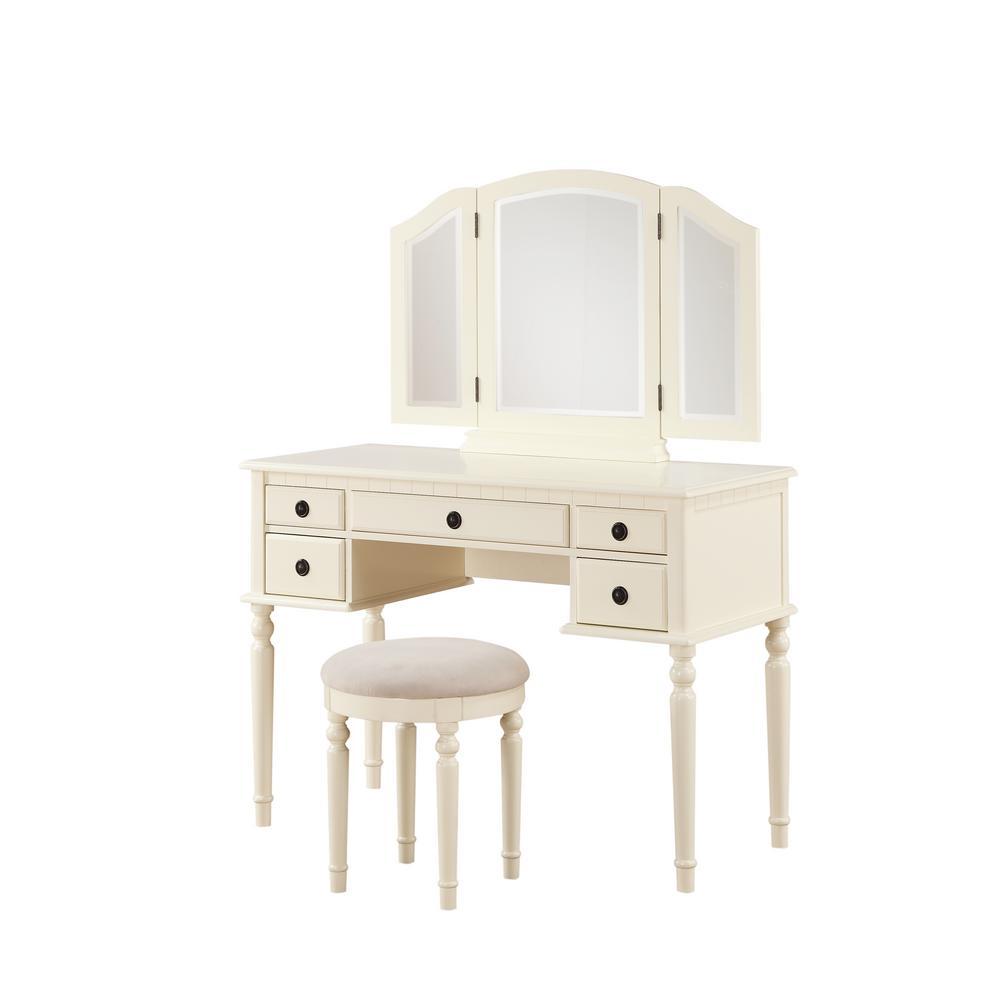 Fine Breeze Off White Vanity Set Dailytribune Chair Design For Home Dailytribuneorg
