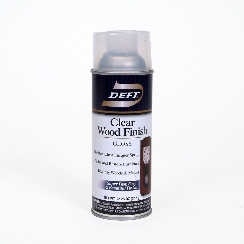 Deft 1 Aerosol Gloss Interior Clear Wood Finish Lacquer 01013 The Home Depot