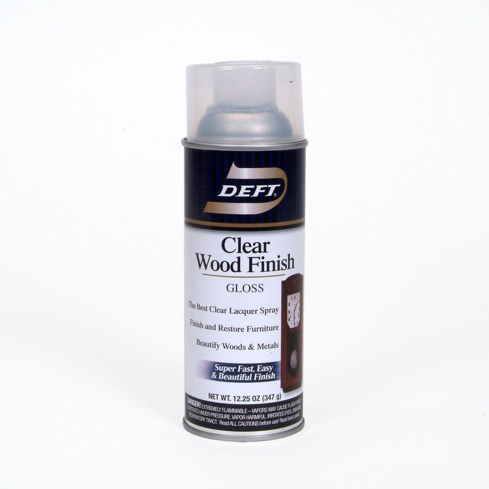 Deft 1-Aerosol Gloss Interior Clear Wood Finish Lacquer