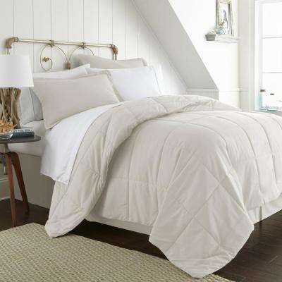 Bed In A Bag Performance Ivory King 8-Piece Bedding Set