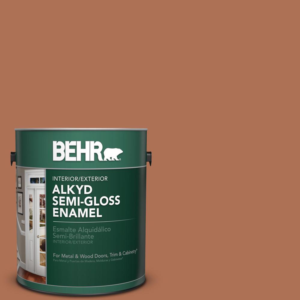 BEHR 1 gal. #PPU3-15 Glazed Pot Semi-Gloss Enamel Alkyd I...