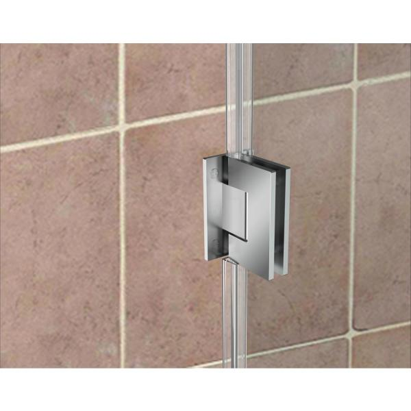 Aston Bromley 46 25 In To 47 25 In X 36 375 In X 72 In Frameless Corner Hinged Shower Enclosure In Chrome Sen967ez Ch 473336 10 The Home Depot