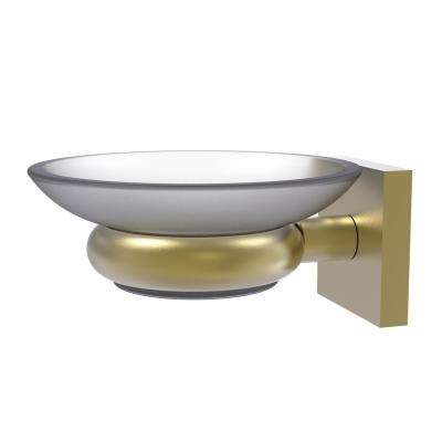 Montero Collection Wall Mounted Soap Dish in Satin Brass