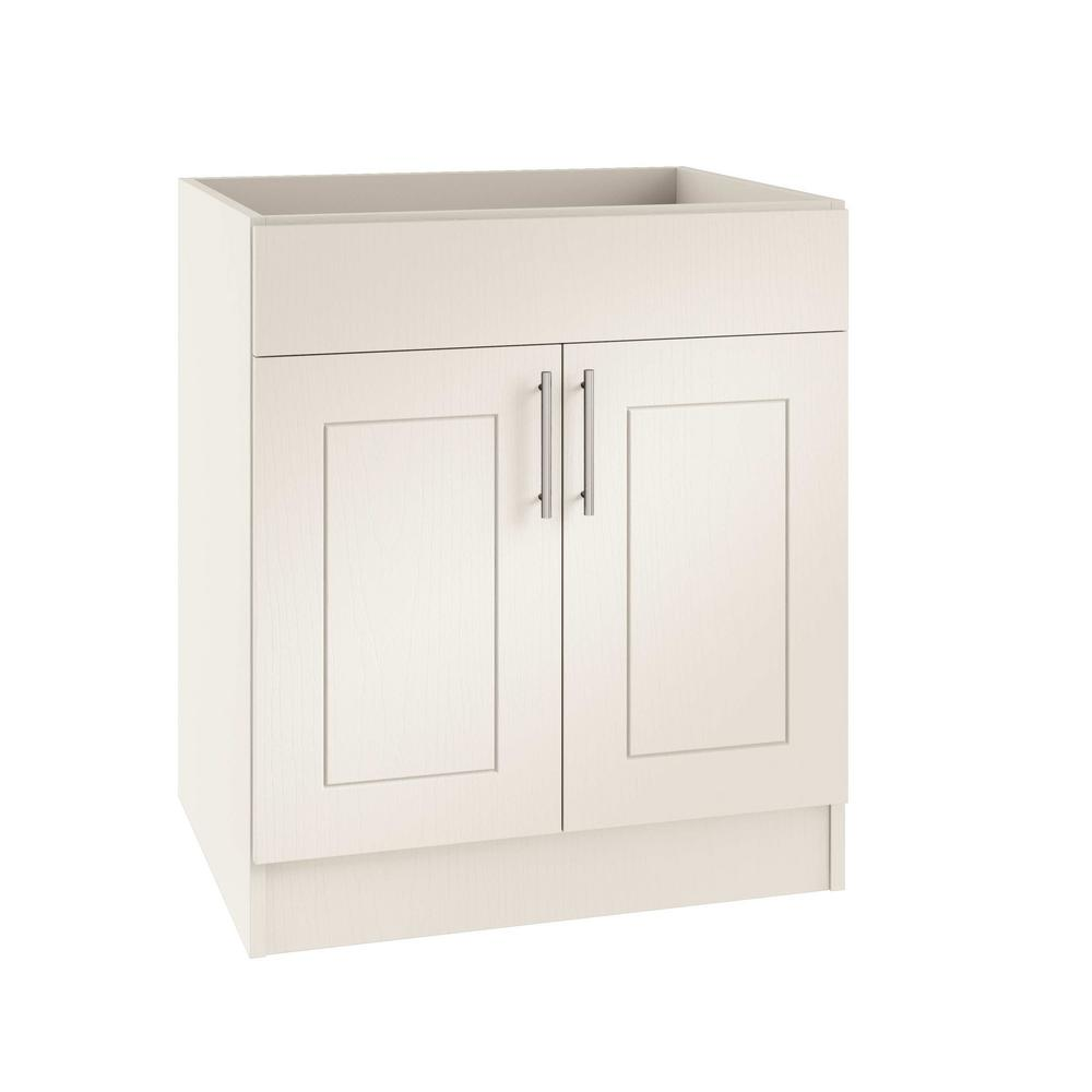 Open Kitchen Sink Cabinet: WeatherStrong Assembled 36x34.5x24 In. Palm Beach Open
