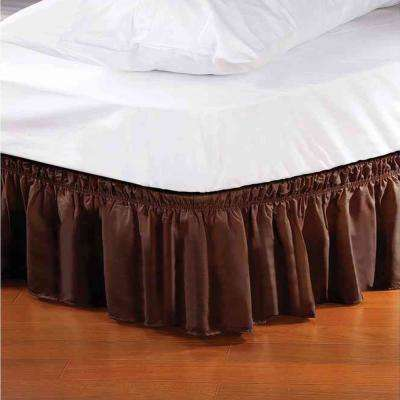 Chocolate Queen/King Bed Ruffle