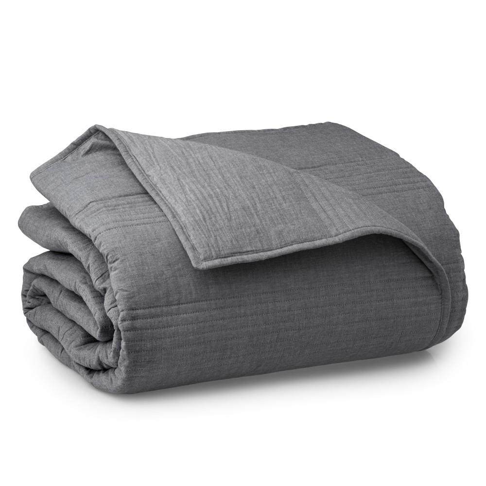 WELHOME The Landon Cotton Heather Gray King Quilt was $145.99 now $80.29 (45.0% off)