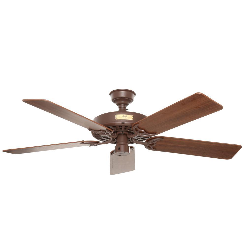Hunter original 52 in indooroutdoor black ceiling fan 23838 indooroutdoor chestnut brown ceiling fan aloadofball Image collections