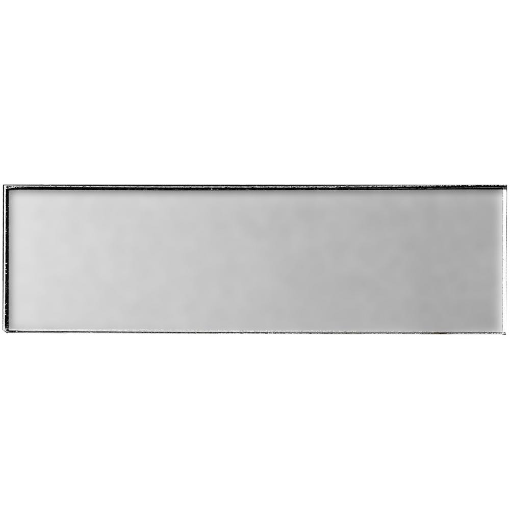 Secret Dimensions 4 in. x 16 in. Silver Glass Matte Peel
