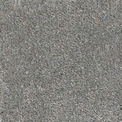 Carpet Sample - Soft Breath I - Color Cayman Texture 8 in. x 8 in.