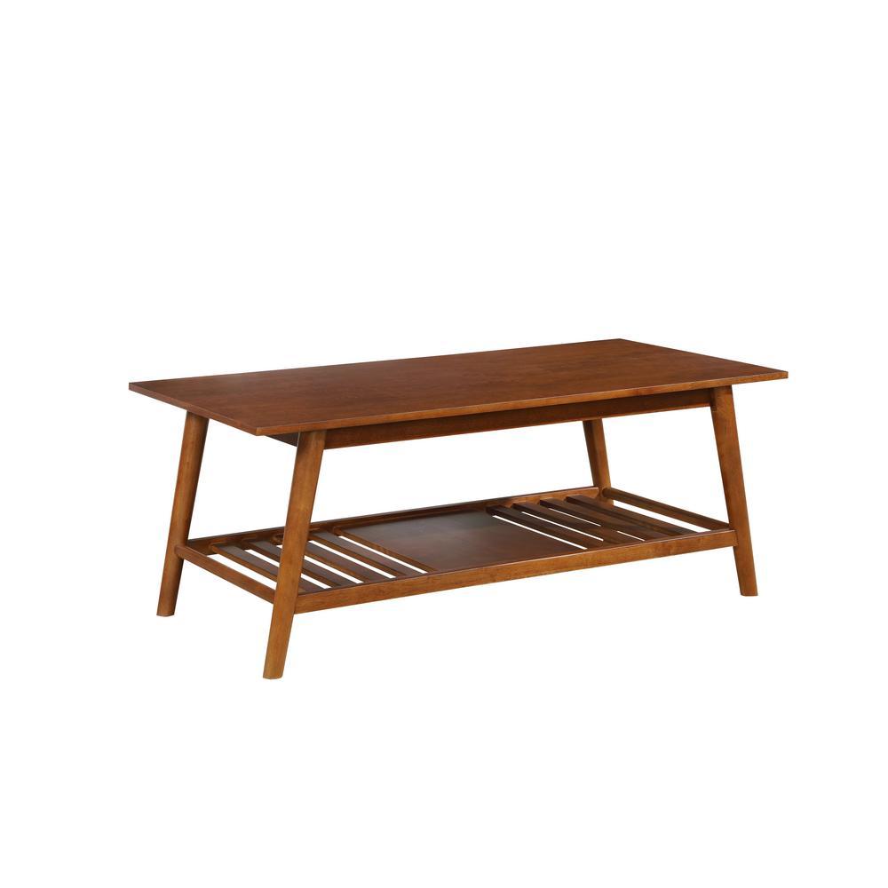 Linon Home Decor Cannon Brown Finish Coffee Table