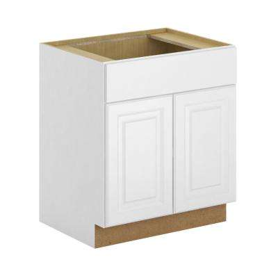 Madison Assembled 30x34.5x24 in. Sink Base Cabinet in Warm White