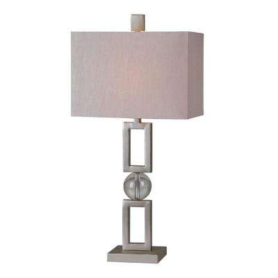 Luna 25 in. Silver Leaf Table Lamp