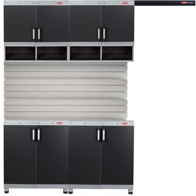 FastTrack Garage Laminate Cabinet Set with Wall Panel (4-Piece)