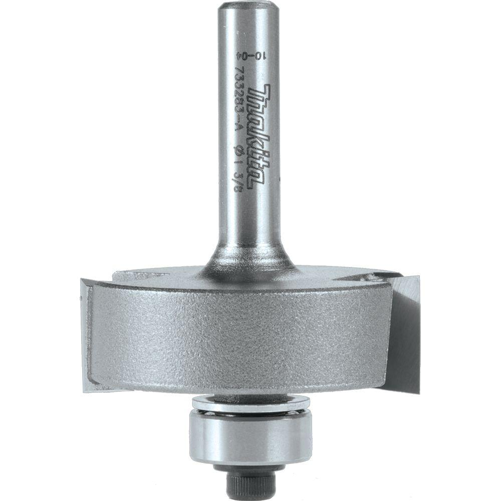 Makita 5/16 in. - 1/2 in. Adjustable Carbide-Tipped 2-Flute Router Bit Adjustable Rabbet with 1/4 in. Shank