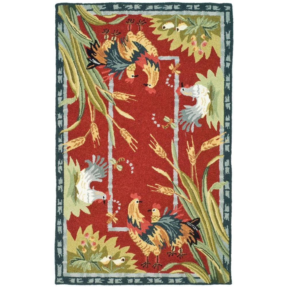 Chelsea Burgundy 2 ft. 6 in. x 4 ft. Area Rug