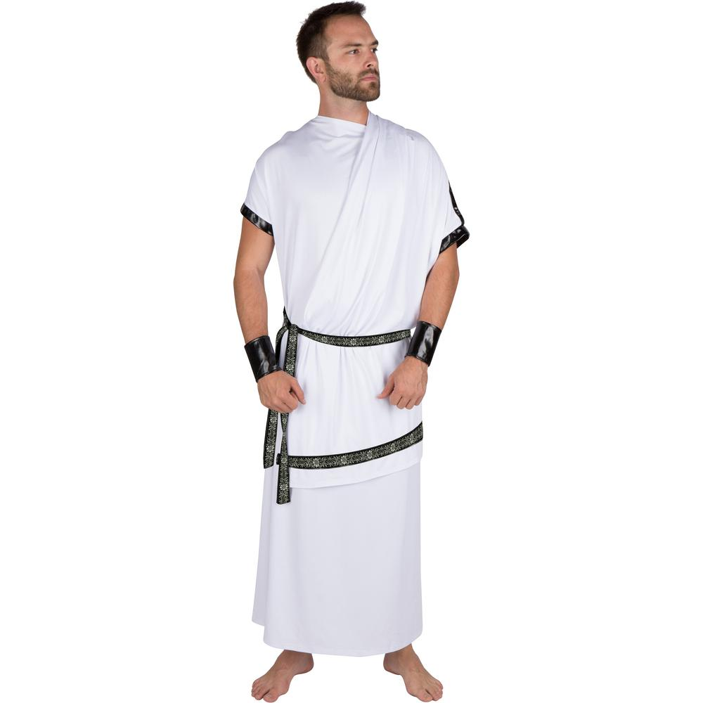 extra large adult mens grecian toga halloween costume