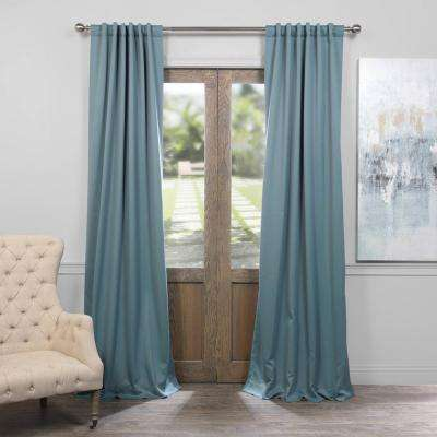 Semi-Opaque Dragonfly Teal Blackout Curtain - 50 in. W x 84 in. L (Panel)