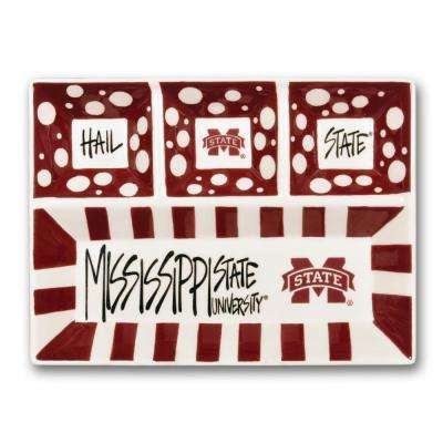 Mississippi State Ceramic 4 Section Tailgating Serving Platter